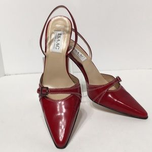 Red vintage mule made in Italy rare❤️